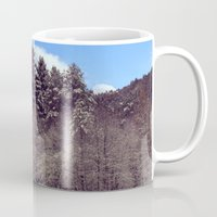 forrest Mugs featuring Christmas forrest by Shitmonkey