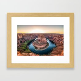 The Bend - Horseshoe Bend During Southwestern Sunset Framed Art Print
