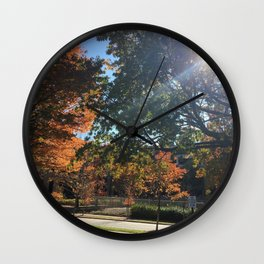 A Fall Day Somewhere in Ohio Wall Clock