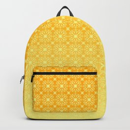Gold Gradient Citrus Pattern Backpack