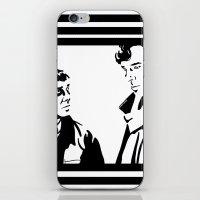 johnlock iPhone & iPod Skins featuring Simple Sherlock by gottalovedrawing