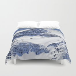 """Big mountains"". Aerial photography Duvet Cover"
