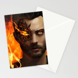 Man Aflame Stationery Cards