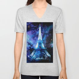 paRis galaxy dreams Unisex V-Neck