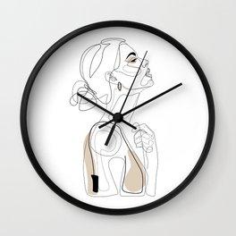 Beige Beauty Wall Clock