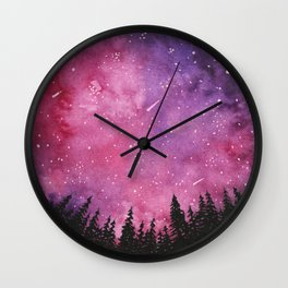 Pink Skies Wall Clock