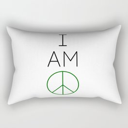 I Am Peace. Rectangular Pillow