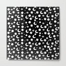Cosmis space in black Metal Print