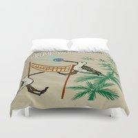 volleyball Duvet Covers featuring Beach Volleyball by Wired Circuit