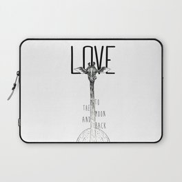 LOVE TO THE MOON AND BACK Laptop Sleeve