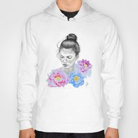 peony Hoodies featuring Peony by Libby Watkins Illustration