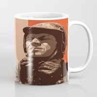 steve mcqueen Mugs featuring S McQueen by Rich Lee