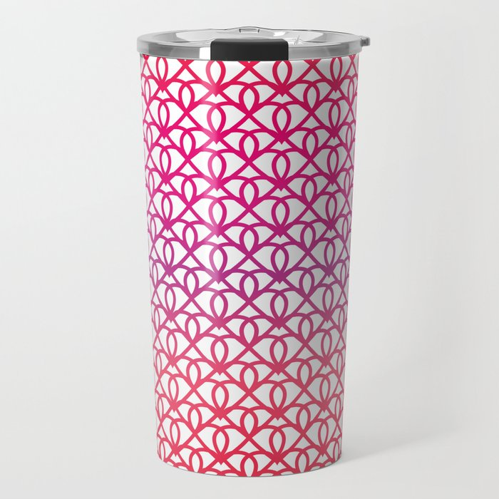 Pattern on a white background for Valentine's Day Travel Mug