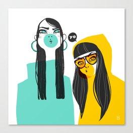 Bubble G▲ng Canvas Print
