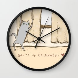 Cat Approval Wall Clock