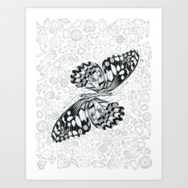 Surreal Butterfly Art Print