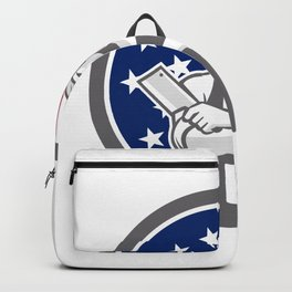 American Butcher Front USA Flag Icon Backpack