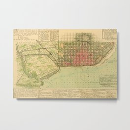 Map Of Buenos Aires 1806 Metal Print