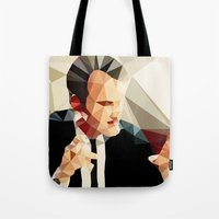 reservoir dogs Tote Bags featuring Quentin Tarantino // Reservoir Dogs by VIVA LA GRAPH!