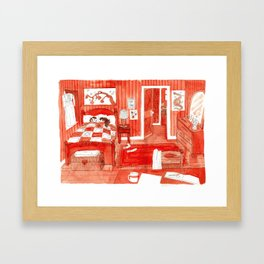 Cold Toes Framed Art Print