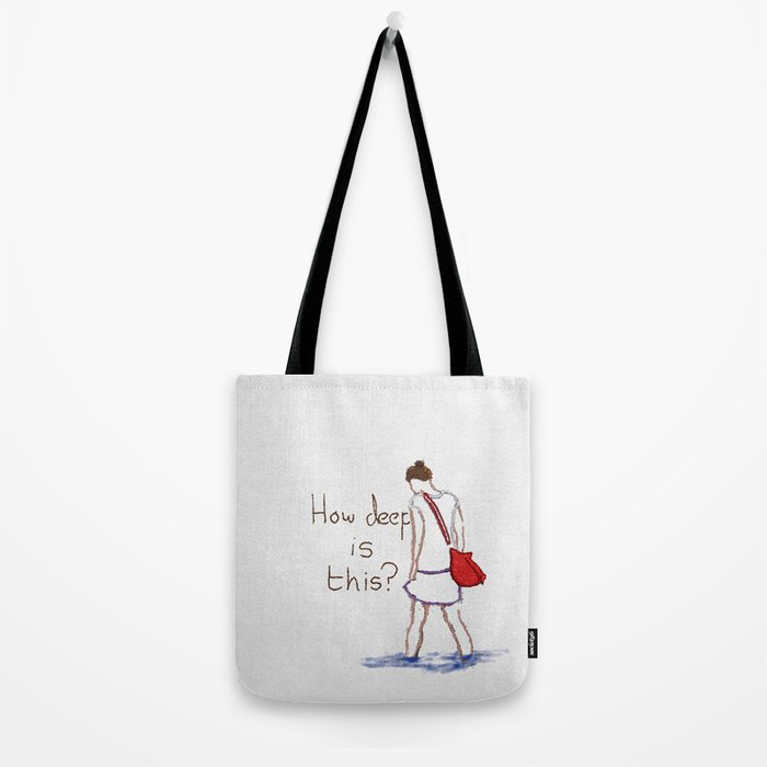 How deep is this? Tote Bag