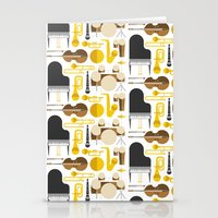 mortal instruments Stationery Cards featuring Jazz instruments by Ana Linea