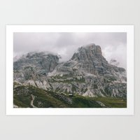 nestled amongst the mountains Art Print