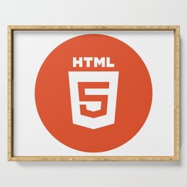 HTML (HTML5) Serving Tray