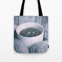 religious Tote Bags featuring COLD  by UtArt