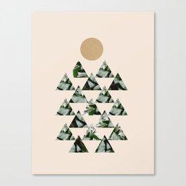 Tropical & Geometry II Canvas Print