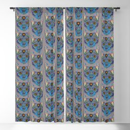 Mystic Psychedelic Cat Blackout Curtain