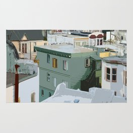 San Francisco Houses Rug