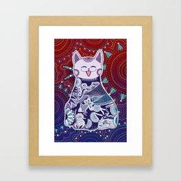 Touchy Catty Framed Art Print