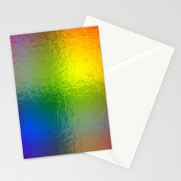 Rainbow Abstract Gradient Painted Pattern Stationery Cards