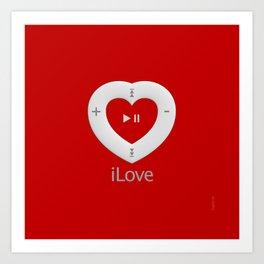 iLove red- By THE-LEMON-WATCH Art Print