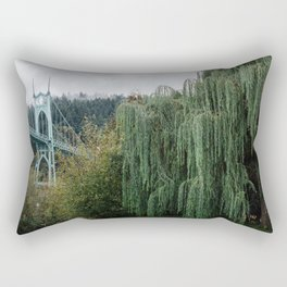 St. John's Bridge from Cathedral Park Rectangular Pillow
