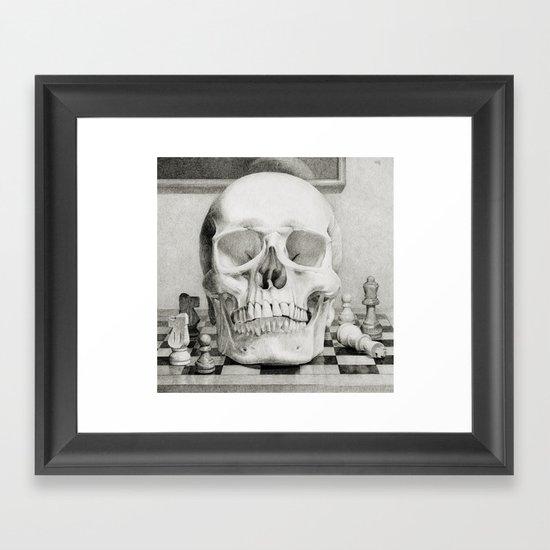 The King is Dead Framed Art Print