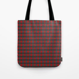 Antiallergenic Hand Knitted Red Grid Winter Wool Pattern - Mix & Match with Simplicty of life Tote Bag