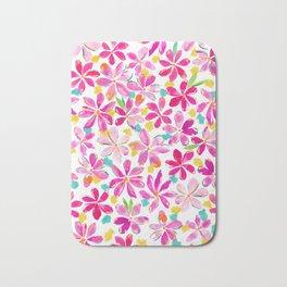 Painterly Flowers Bath Mat