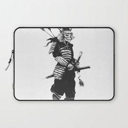 Samurai skull , grim reaper illustration , zombie warrior Laptop Sleeve