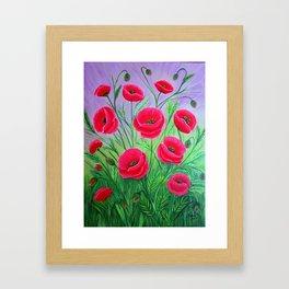 Poppies-8 Framed Art Print