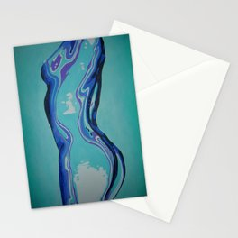 Moulded Glass Beautiful Nude Abstract  Stationery Cards
