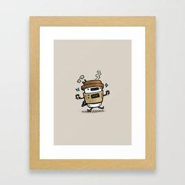 Latte Bot Framed Art Print