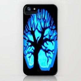 Happy HaLLoWeen Brain Tree Blue iPhone Case