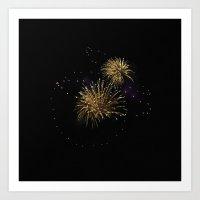 Firework 0995 Art Print