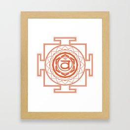 Sri Yantra Sacral Chakra Framed Art Print