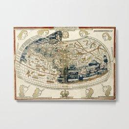 World Map 1482 Metal Print