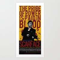 scarface Art Prints featuring Scarface by Arinesart