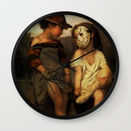 Freddy Krueger vs Jason Voorhees - Friday 13th Kids Wall Clock