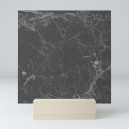 Marble Black Gray White Mini Art Print